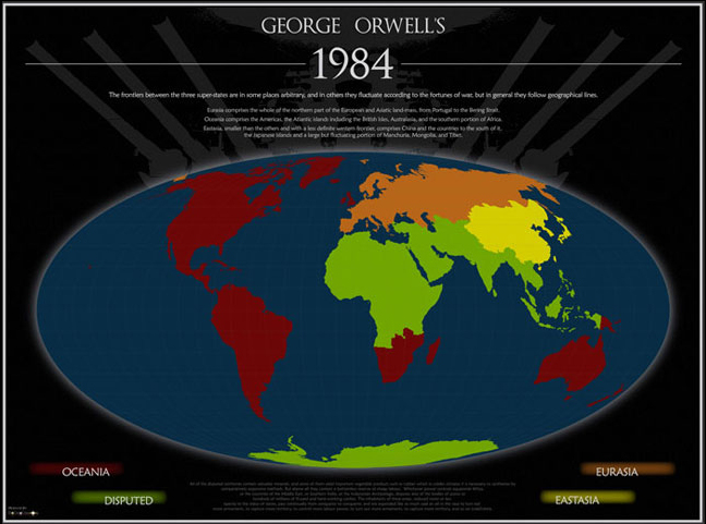 World Map of Orwell\'s 1984 – Marcus Felsman\'s English Blog